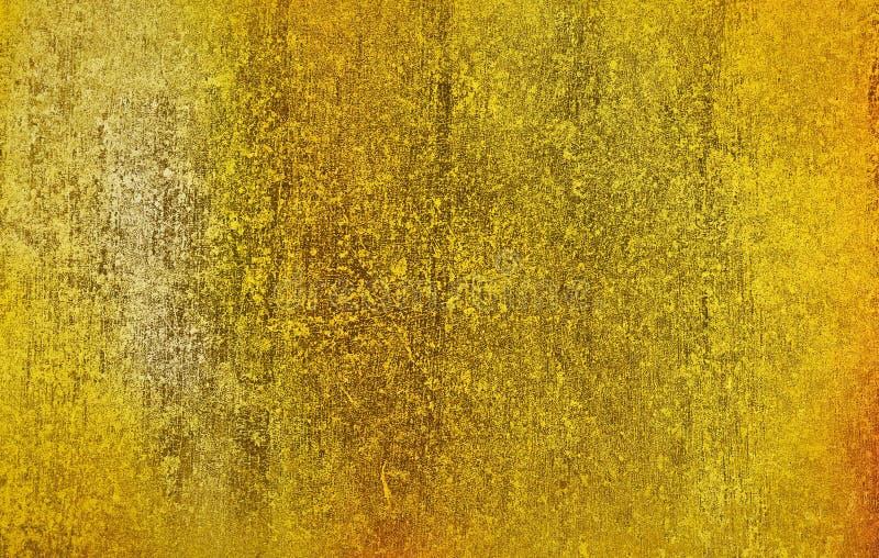Metal del oro con la superficie áspera del fondo de la textura del rasguño para el diseño del fondo imagenes de archivo
