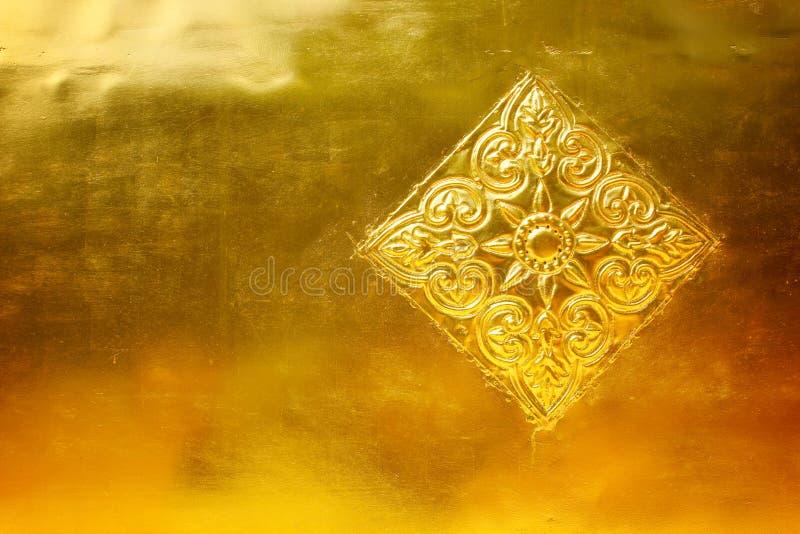 Metal del oro con modelado imagen de archivo