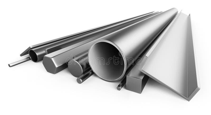 Metal del perfil stock de ilustración