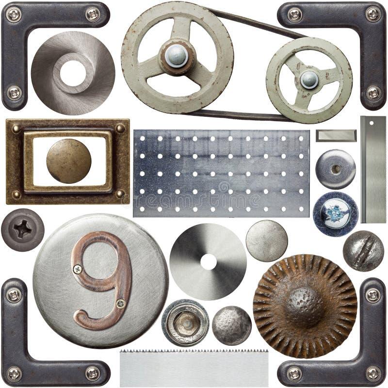 Metal details stock photo