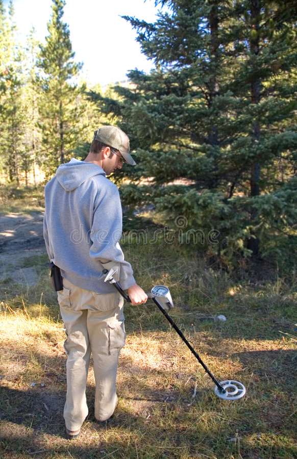 Metal Detecting royalty free stock photography