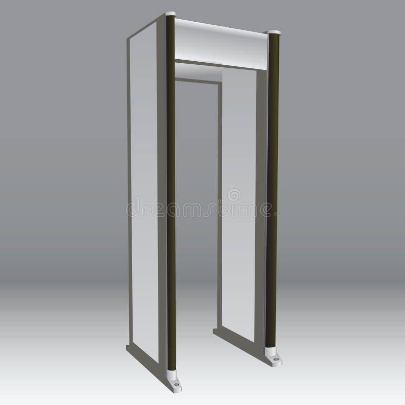 Metal detector royalty free illustration