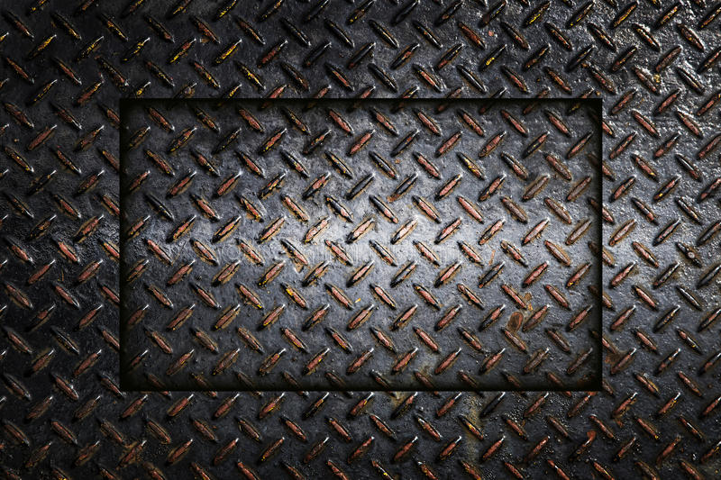 Metal diamond plate abstract industrial background. Metal diamond plate ; abstract industrial background stock photo