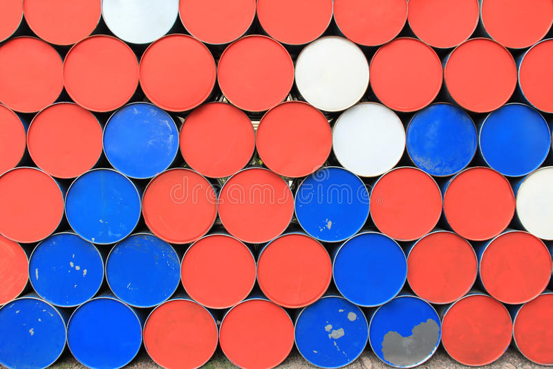 Metal dirty barrels background royalty free stock photo