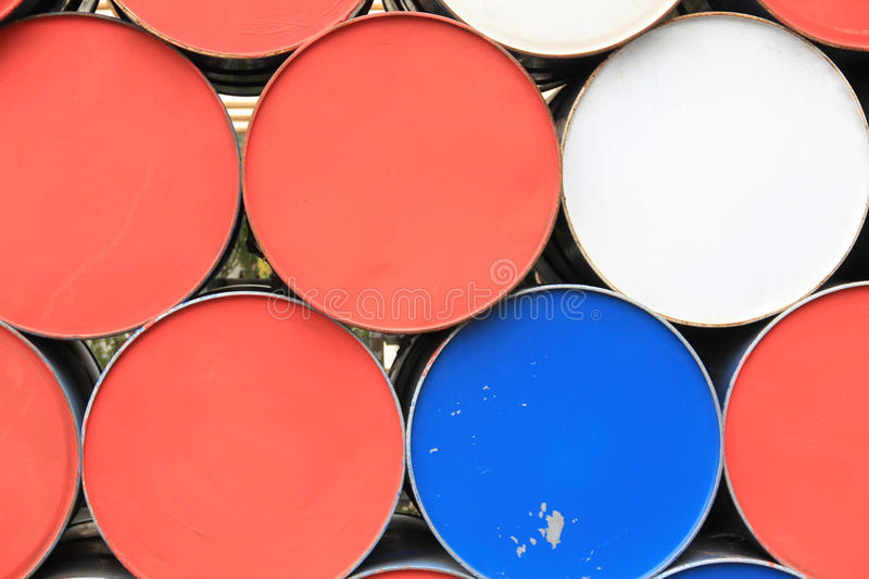 Metal dirty barrels royalty free stock photography