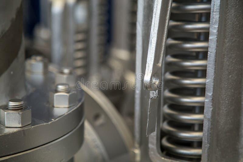 Metal do aço da flange de válvula fotos de stock