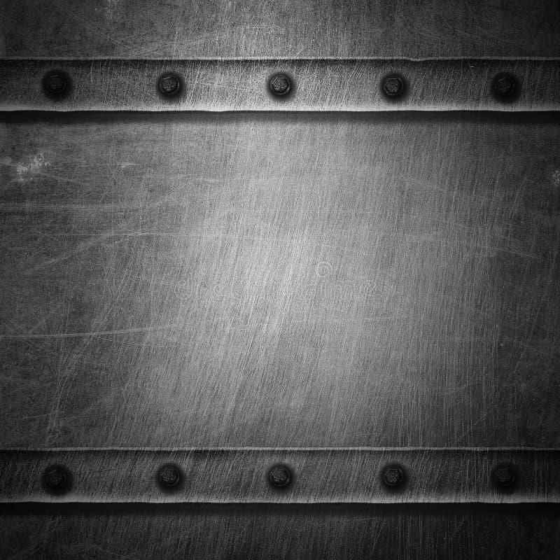 Metal do Grunge e placa da oxidação ilustração do vetor