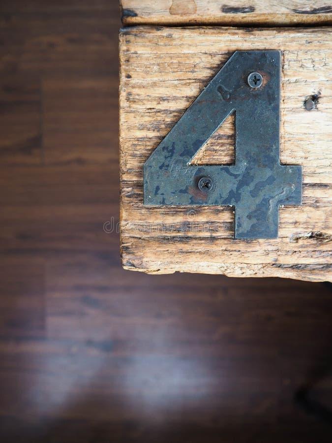 Metal do número quatro foto de stock