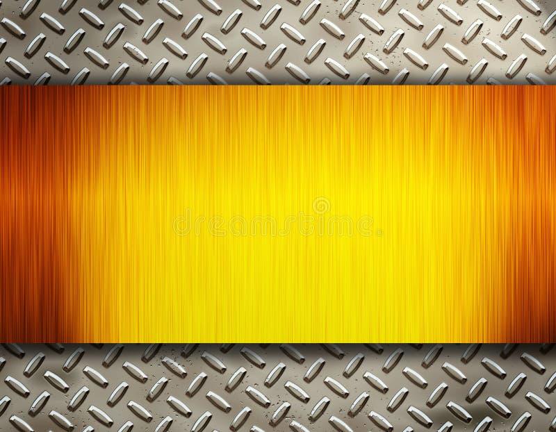 Metal do ouro ilustração stock