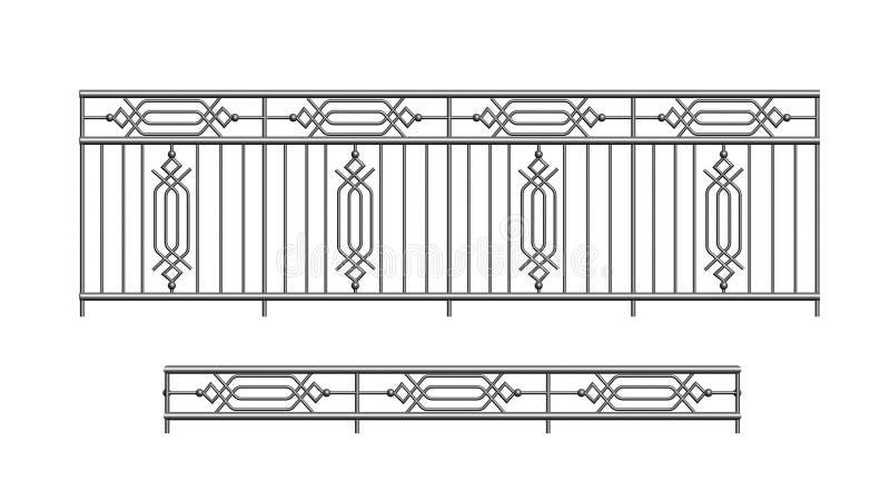 Metal do parapeito dos trilhos para o exterior