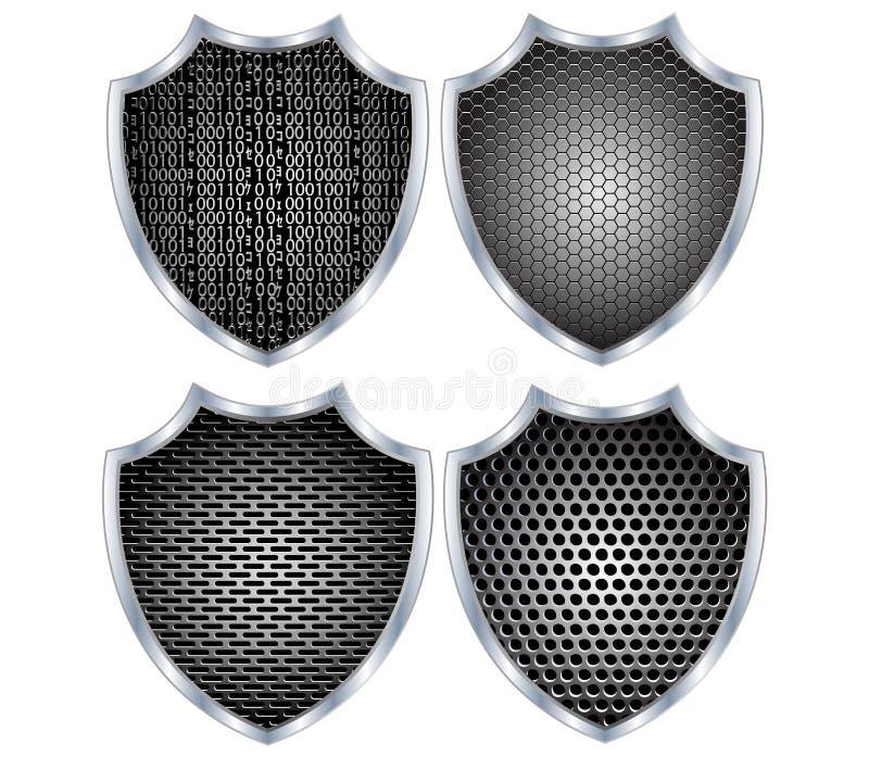 Metal do protetor da segurança ilustração do vetor
