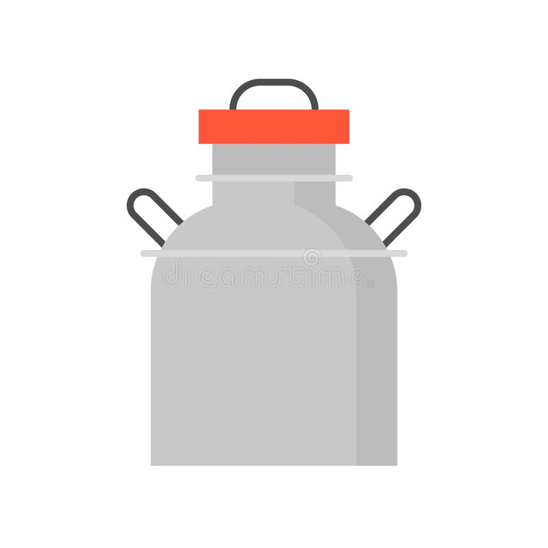 Metal dojna cysternowa płaska ikona ilustracji