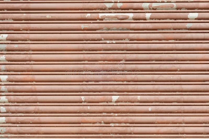 Metal garage door textured background stock image