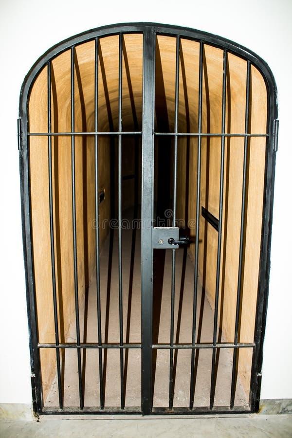 Download Metal Door With Bars In A Prison Stock Image - Image of corridor correctional & Metal Door With Bars In A Prison Stock Image - Image of corridor ...