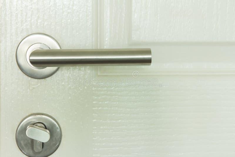 Metal door handle royalty free stock photos