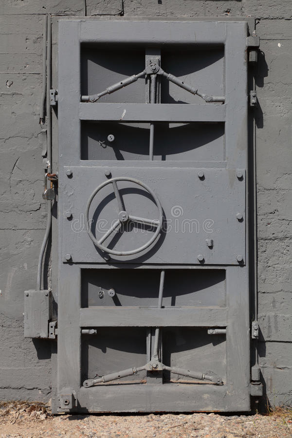 Metal door royalty free stock photography