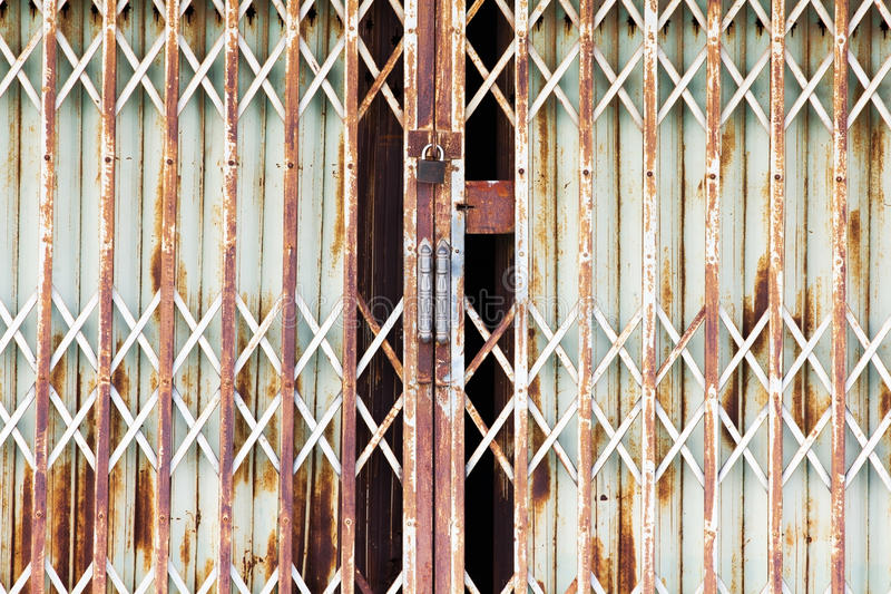 Download Metal door with lock stock photo. Image of gate, entrance - 37072820
