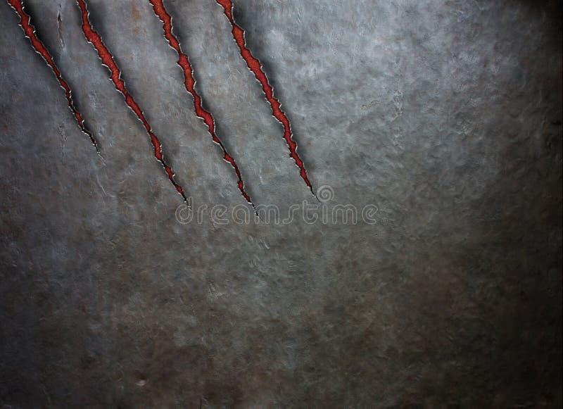 Metal drapający bestia pazurami royalty ilustracja