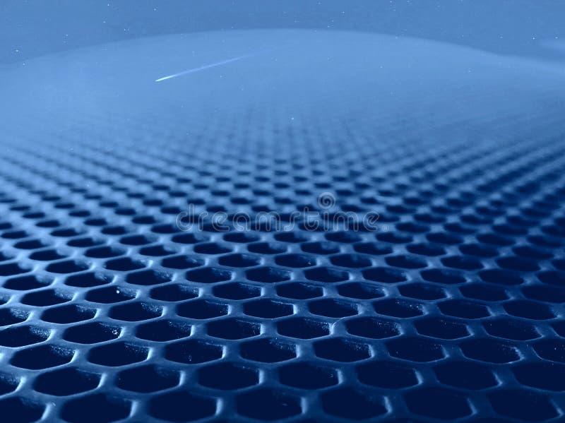 Metal dziura pod pobliskim obiektywem ilustracja wektor