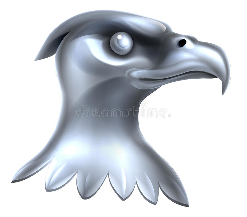 Metal Eagle Head Concept ilustración del vector