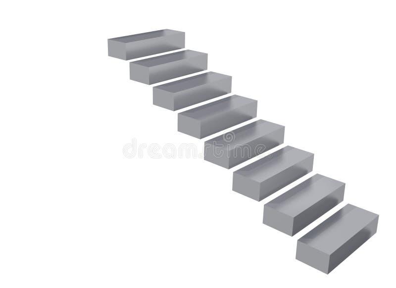 Metal einen Jobstepp stock abbildung