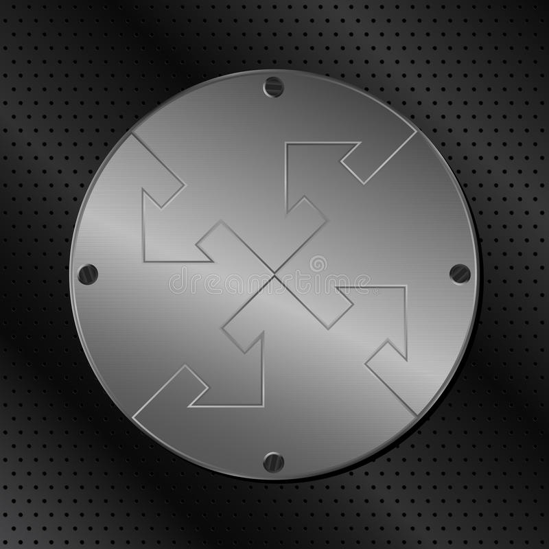 Metal el círculo con las flechas ilustración del vector