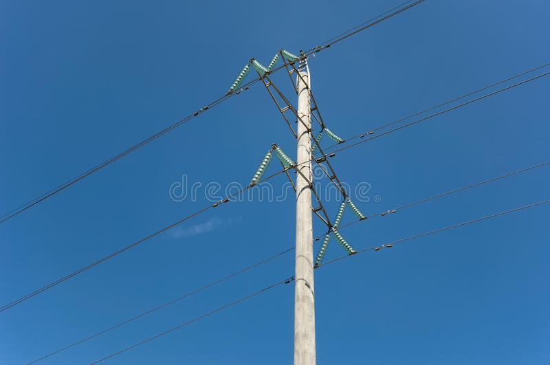 Download Metal electric post stock image. Image of pole, line - 33970777