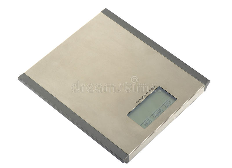 Metal electronic scales royalty free stock images
