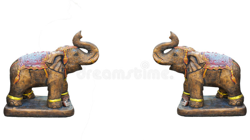 Metal Elephant Isolated On White Stock Photography