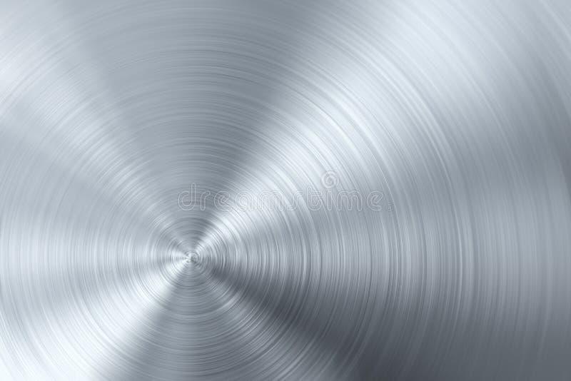 Metal escovado circular ilustração royalty free