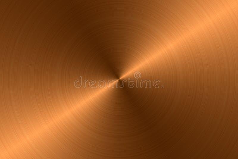 Metal escovado - cobre ilustração royalty free
