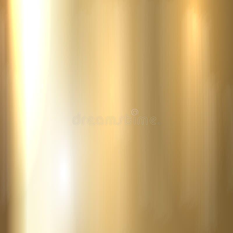 Metal escovado ouro ilustração stock