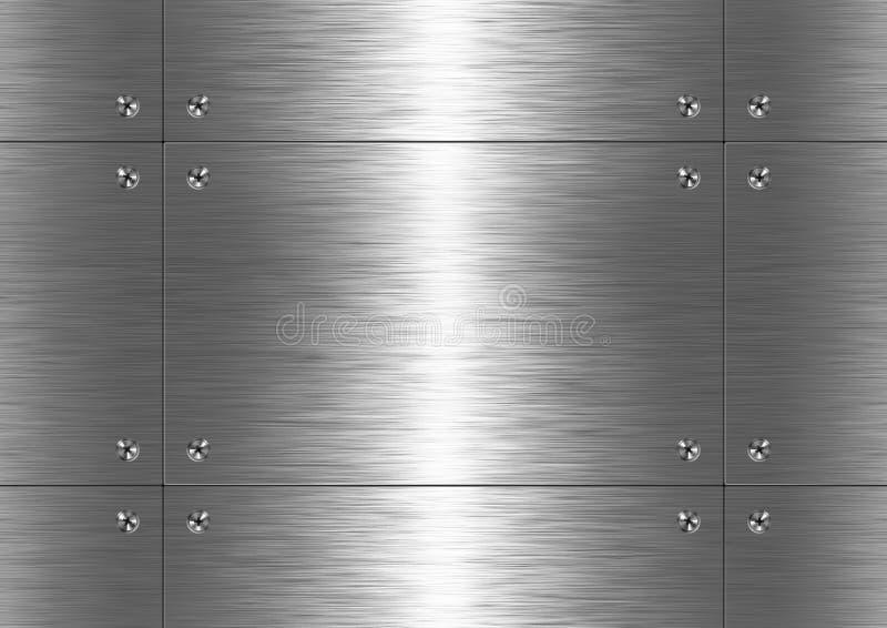 Metal escovado, teste padrão fotografia de stock royalty free