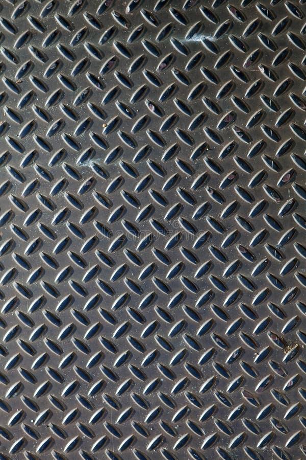 Metal escuro Diamond Plate imagem de stock royalty free