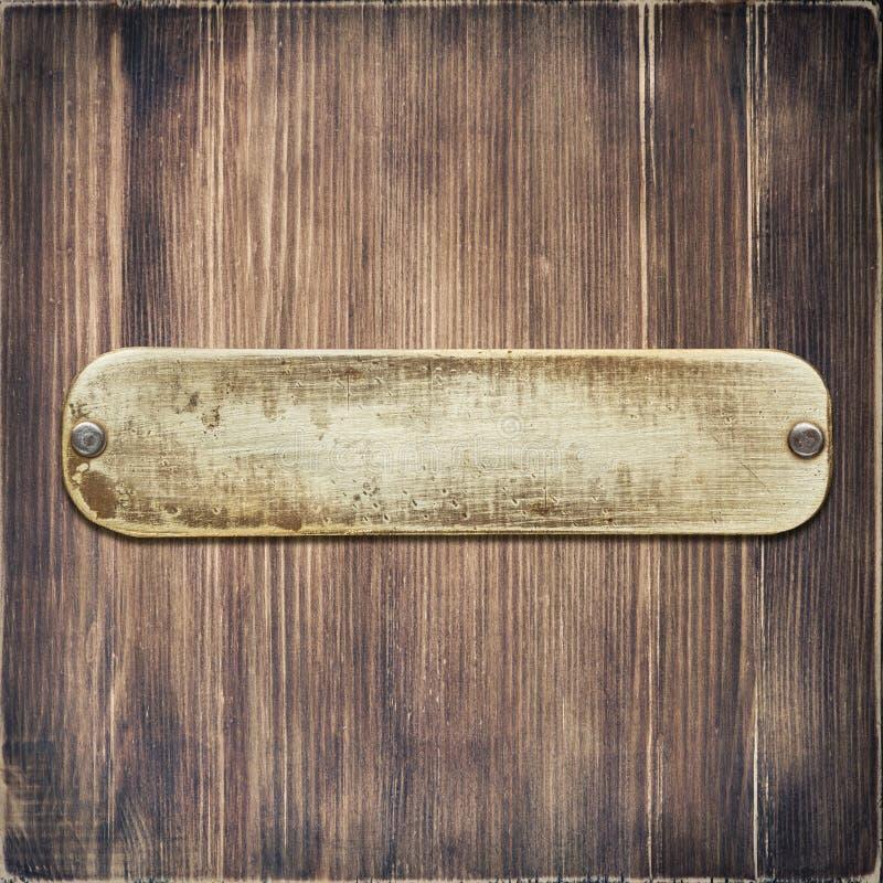 Metal etykietki talerz zdjęcia stock