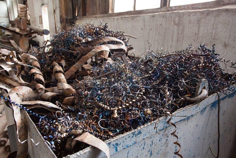 Metal fabryki odpady fotografia stock