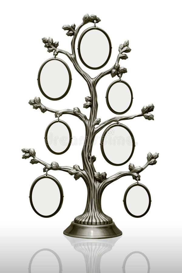 Metal Family Tree With Frames Stock Photo - Image of decoration ...