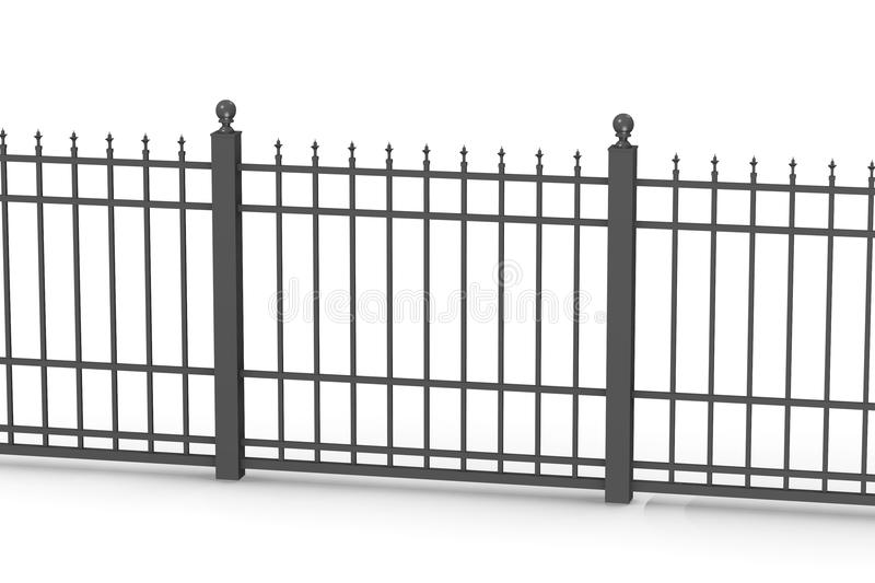 Download Metal fence 5 stock illustration. Image of gate, wall - 24352550