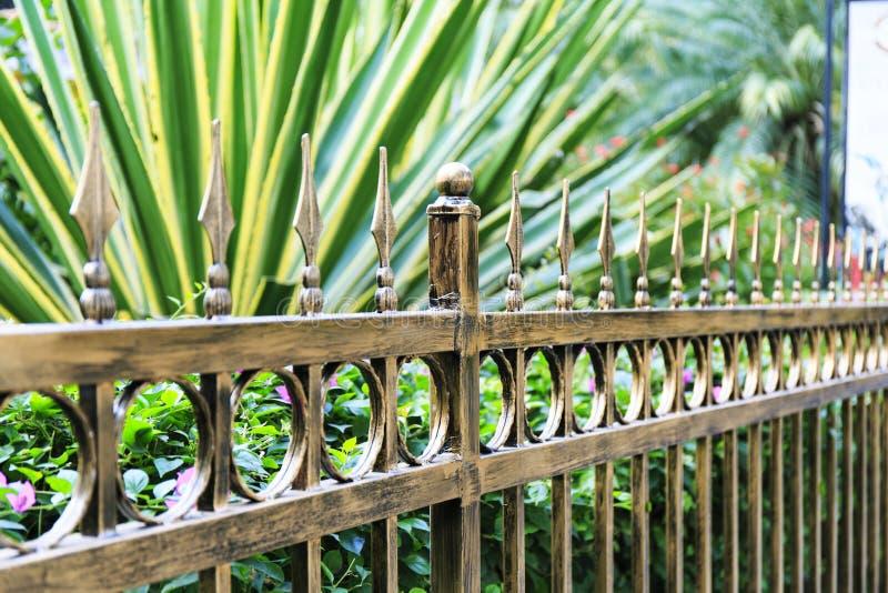 Metal iron fence royalty free stock image