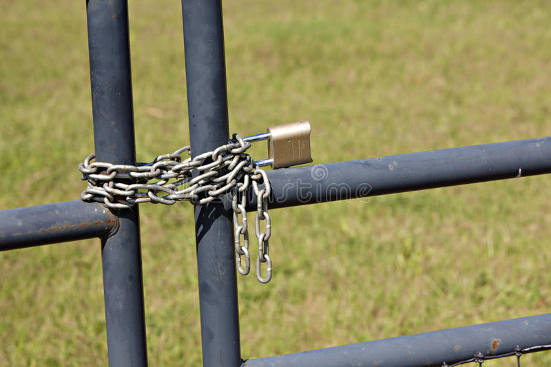 Download Metal Fence With Lock And Chain Stock Image - Image of safe, lock: 18027905