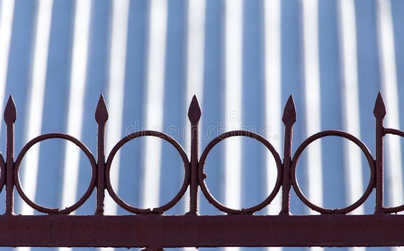Metal fence royalty free stock photos