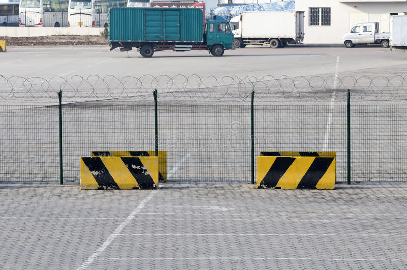Metal fence and Restricted Area