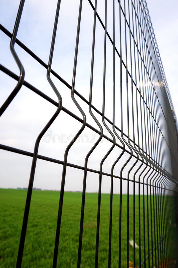 Metal fence wire stock photos