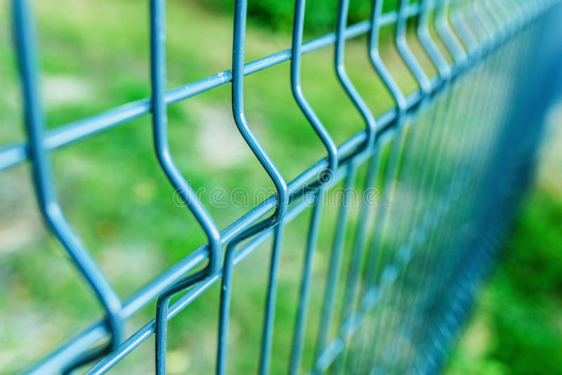 Metal fence wire stock images
