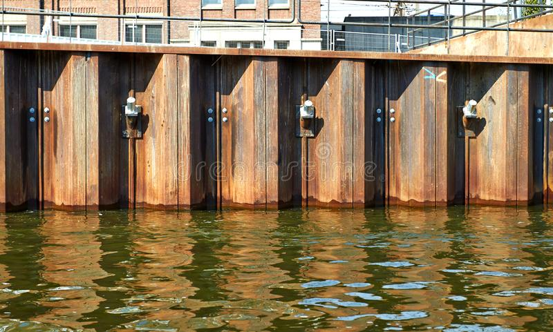 Metal fencing channel. Amsterdam royalty free stock photos