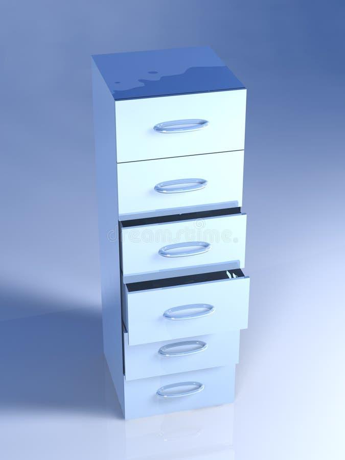 Download Metal Filing Cabinet stock illustration. Illustration of safe - 4854489