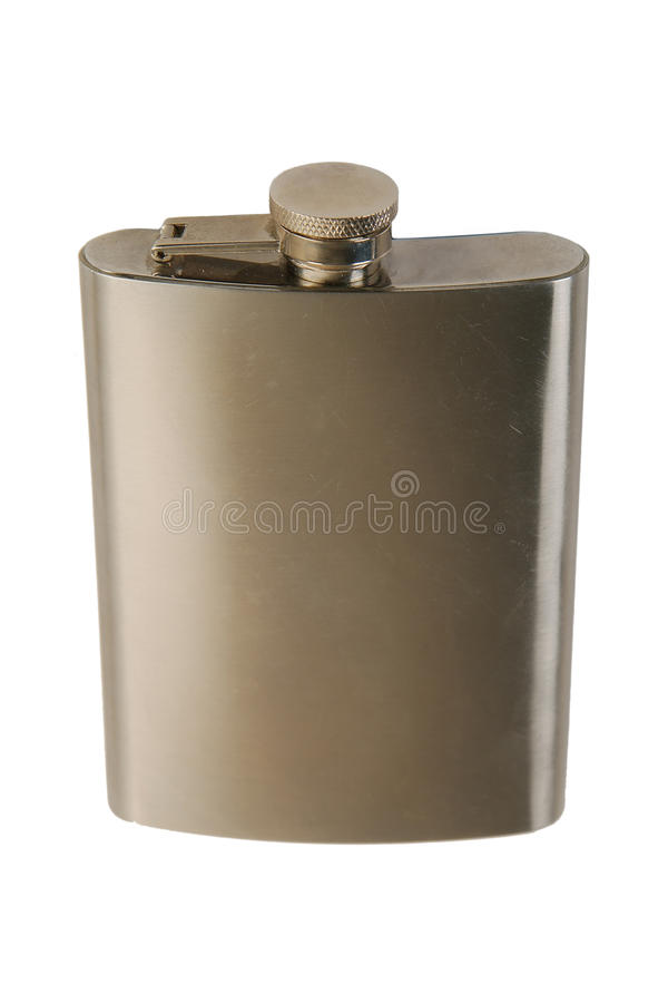 Download Metal flask stock photo. Image of empty, iron, color - 13055454