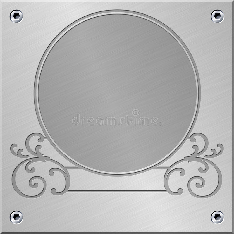 Download Metal flourish panel stock illustration. Image of alloy - 6662489