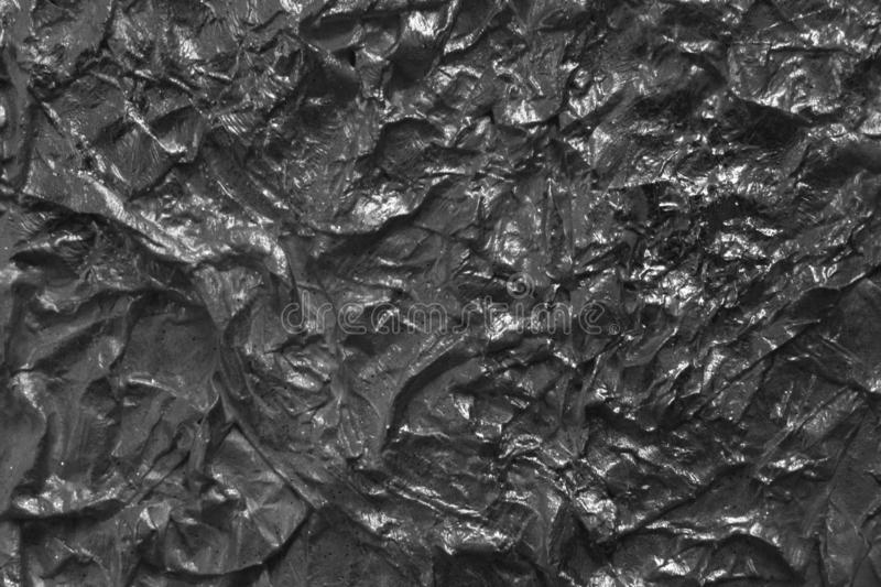 Metal foil texture in black and white stock photos