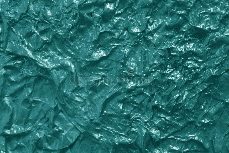 Metal foil texture in cyan color royalty free stock photos